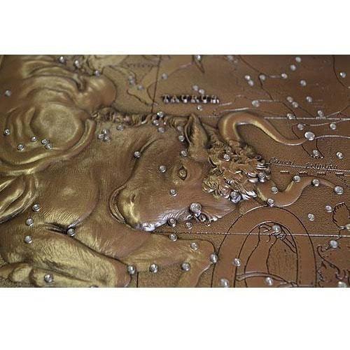 Панно из металла на стену. Знаки Зодиака. Телец (малое) (фото, вид 2)