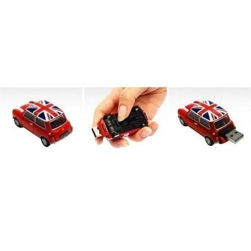 Подарочная флешка. Автомобиль Мини Купер (цвет красный) (фото, вид 1)