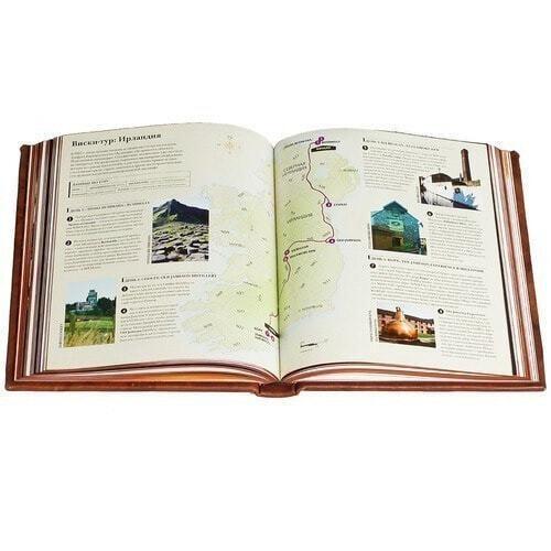 Подарочная книга в кожаном переплете. Виски. Полный всемирный путеводитель (фото, вид 5)
