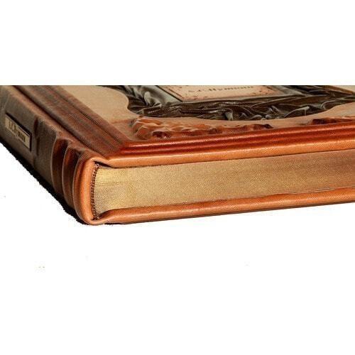 Подарочная книга в кожаном переплете. Пушкин А.С. Избранное (фото, вид 2)