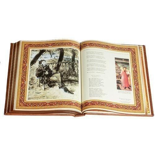 Подарочная книга в кожаном переплете. Пушкин А.С. Избранное (фото, вид 4)
