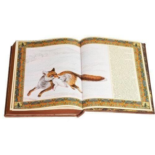 Подарочная книга в кожаном переплете. Русская охота (фото, вид 4)