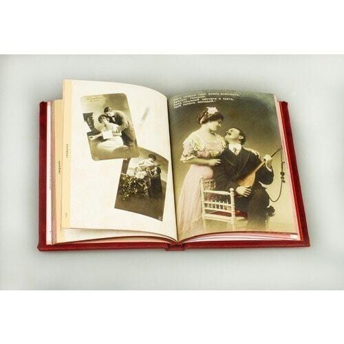 Подарочная книга в кожаном переплете. Любовные открытки 20 века (фото, вид 3)