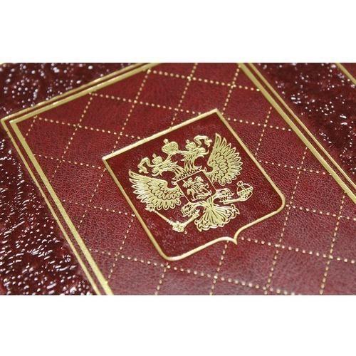Подарочный ежедневник в кожаном переплете. Герб России (фото, вид 3)