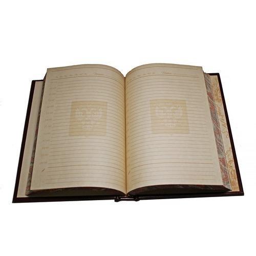 Подарочный ежедневник в кожаном переплете. Герб России (фото, вид 4)