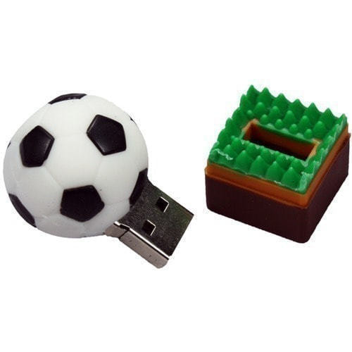 Подарочная флешка. Футбольный мяч (фото, вид 1)