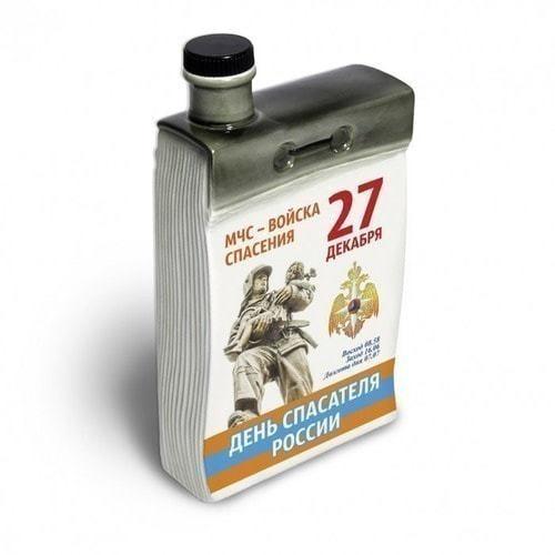 """Подарочный набор с фарфоровым штофом """"Календарь спасателя"""" (фото, вид 1)"""