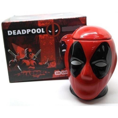 Подарочная 3D керамическая кружка Супергерои. Дэдпул (Deadpool) (фото, вид 1)