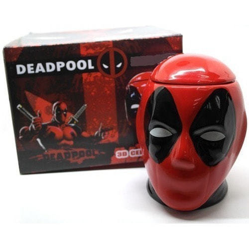Подарочная 3D керамическая кружка Супергерои. Дэдпул (Deadpool) (фото, вид 9)