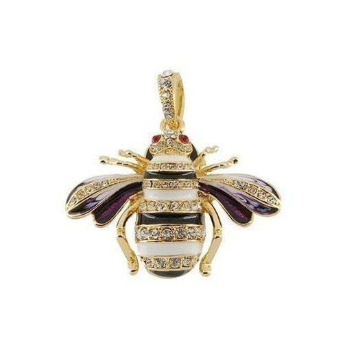 Ювелирная флешка-подвеска. Пчела со стразами (фото, вид 4)