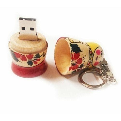 Подарочная деревянная флешка. Русская матрёшка (фото, вид 2)