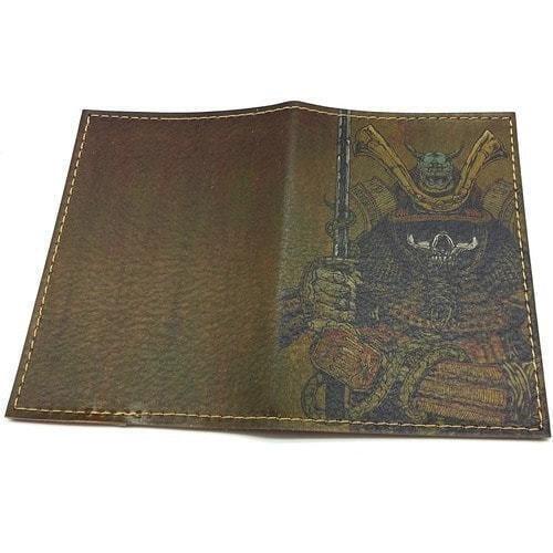 Кожаная обложка на паспорт. Самурай (фото, вид 1)