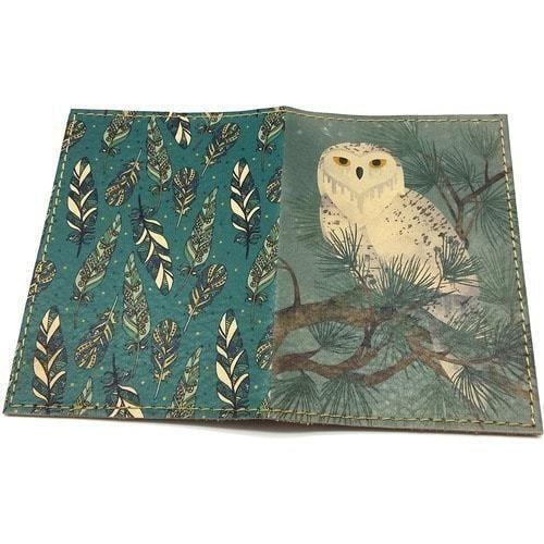Кожаная обложка на паспорт. Полярная сова (фото, вид 1)
