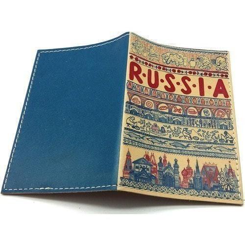 Кожаная обложка на паспорт. Russia (фото, вид 1)