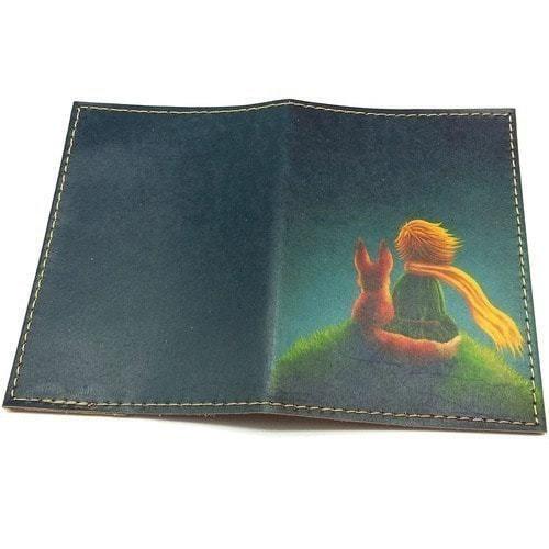 Кожаная обложка на паспорт. Маленький принц (фото, вид 1)