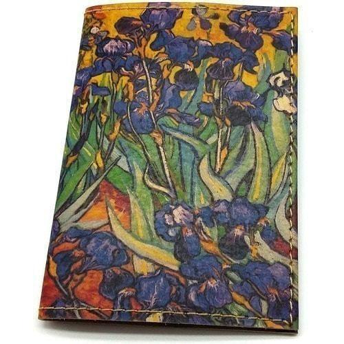 """Кожаная обложка на паспорт. Ван Гог """"Ирисы"""" (фото, вид 1)"""