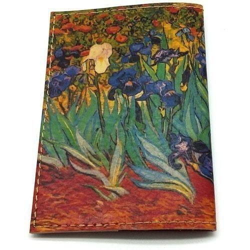 """Кожаная обложка на паспорт. Ван Гог """"Ирисы"""" (фото, вид 2)"""