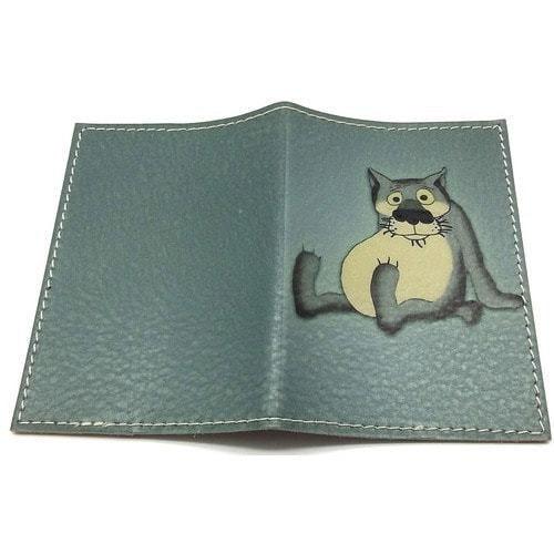 Кожаная обложка на паспорт. Жил-был пес. Волк (фото, вид 1)