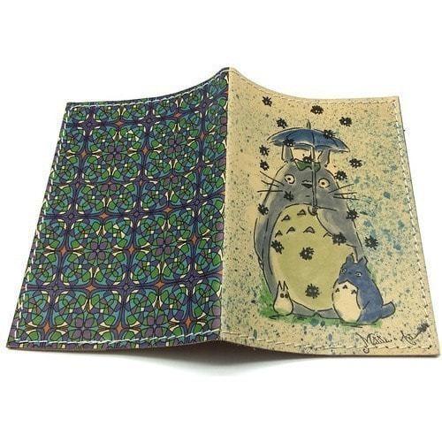 Кожаная обложка на паспорт. Тоторо (фото, вид 1)