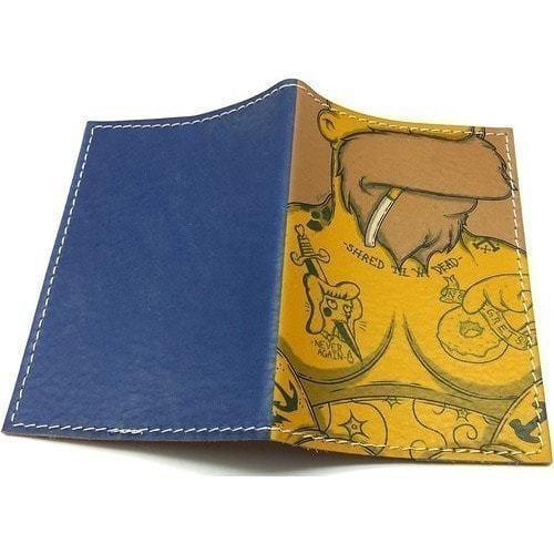 Кожаная обложка на паспорт. Гомер Симпсон в тату (фото, вид 1)