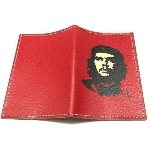 Кожаная обложка на паспорт. Че Геварра (фото, вид 1)