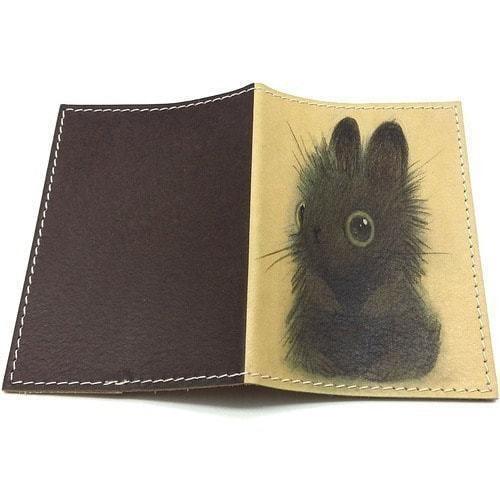 Кожаная обложка на паспорт. Зайчик (фото, вид 1)