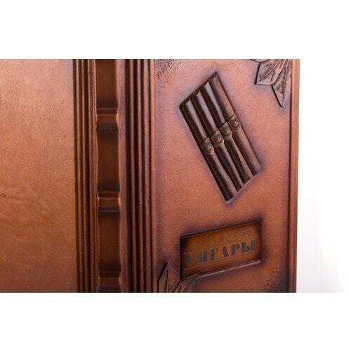 Подарочная книга в кожаном переплете . Сигары (фото, вид 1)
