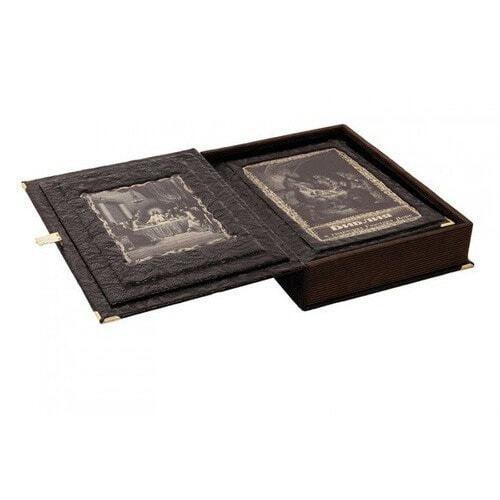 Подарочная книга в кожаном переплете. Библия в гравюрах Гюстава Доре (в коробе) (фото, вид 2)