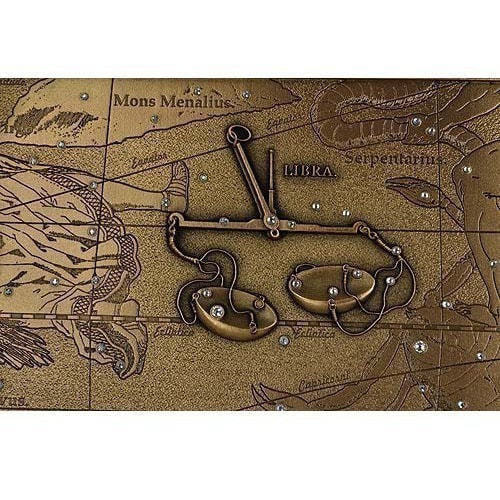 Панно из металла на стену. Знаки Зодиака. Весы (малое) (фото, вид 4)