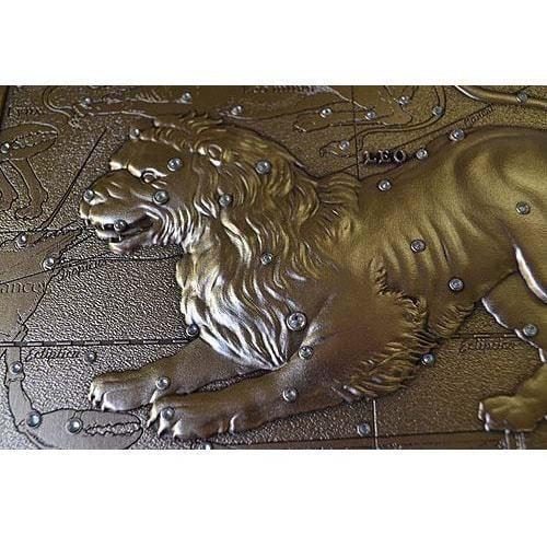 Панно из металла на стену. Знаки Зодиака. Лев (малое) (фото, вид 4)