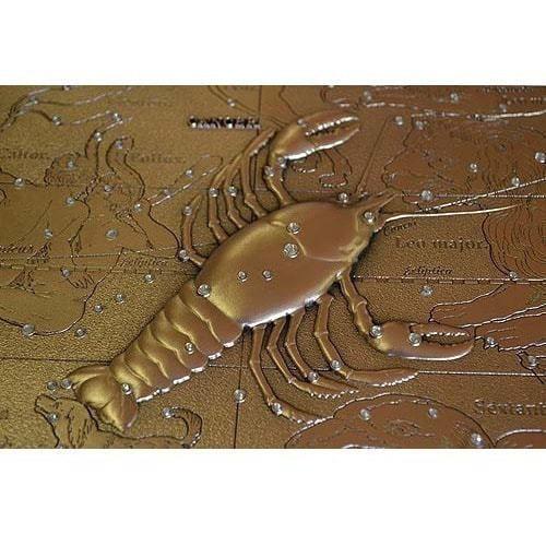 Панно из металла на стену. Знаки Зодиака. Рак (малое) (фото, вид 4)
