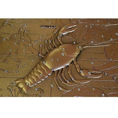 Панно из металла на стену. Знаки Зодиака. Рак (25 х 20 см) (фото, вид 4)