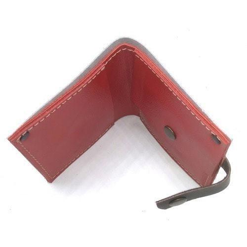 Кожаный кошелек. Девушка в красном (фото, вид 2)