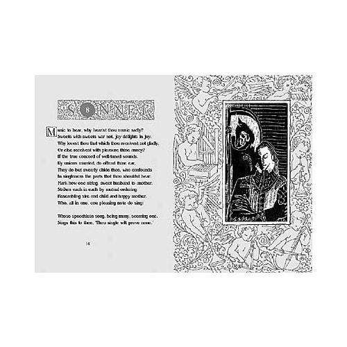 Подарочный набор с миниатюрной книгой в кожаном переплете. Шекспир «Сонеты» (фото, вид 1)