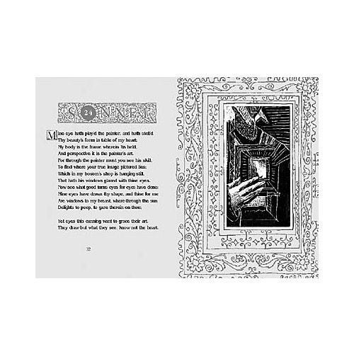 Подарочный набор с миниатюрной книгой в кожаном переплете. Шекспир «Сонеты» (фото, вид 2)