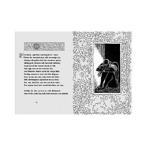 Подарочный набор с миниатюрной книгой в кожаном переплете. Шекспир «Сонеты» (фото, вид 3)