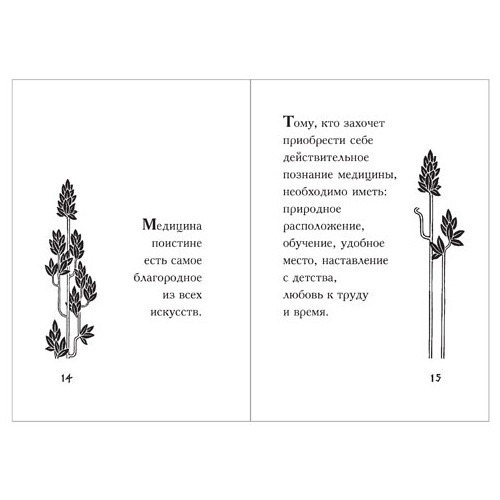 Подарочный набор с миниатюрной книгой. Гиппократ «Мысли великого врача» (фото, вид 2)