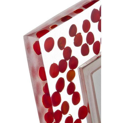 Подарочная фоторамка. Красные капли (под фото 10х15 см) (фото, вид 1)
