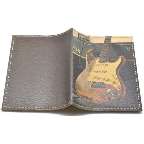 Кожаная обложка на паспорт. Электрогитара (фото, вид 1)