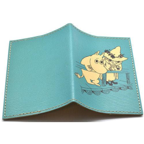 Кожаная обложка на паспорт. Мумми-троль (фото, вид 1)