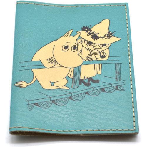 Кожаная обложка на паспорт. Мумми-троль (фото, вид 2)