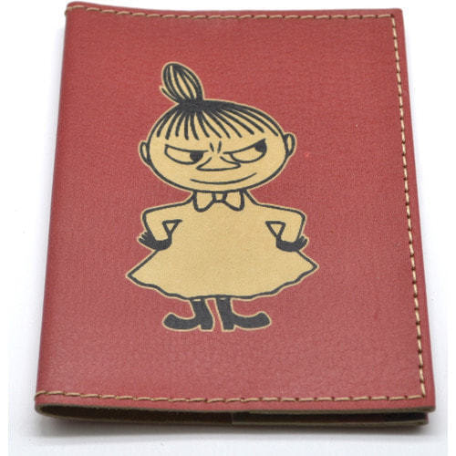 Кожаная обложка на паспорт. Девочка (фото, вид 2)
