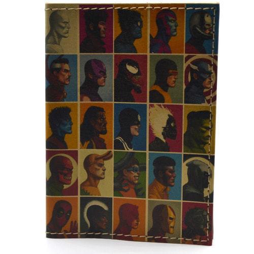 Кожаная обложка на паспорт. Супергерои. Мстители (фото, вид 1)