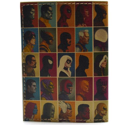 Кожаная обложка на паспорт. Супергерои. Мстители (фото, вид 2)