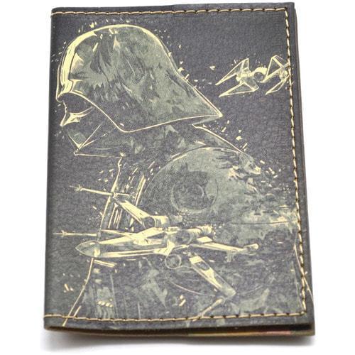 Кожаная обложка на паспорт. Звездные войны. Дарт Вейдер (фото, вид 2)