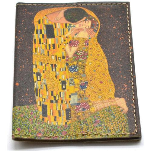 Кожаная обложка на паспорт. Климт. Поцелуй (фото, вид 2)