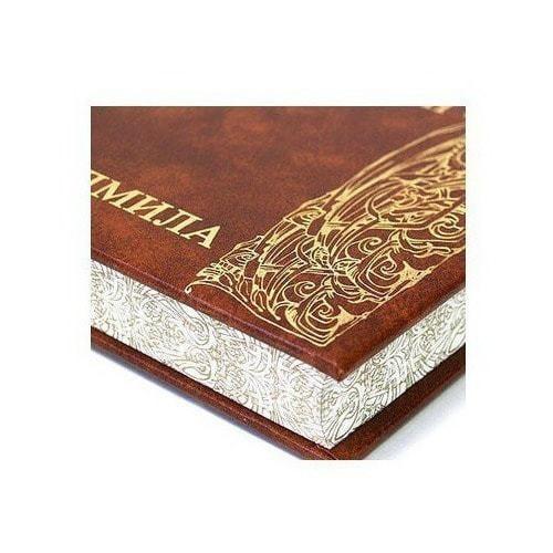 Подарочная книга в кожаном переплете. Александр Пушкин. Руслан и Людмила (фото, вид 2)