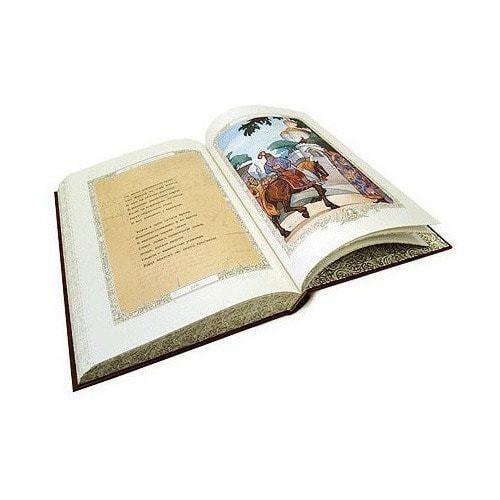 Подарочная книга в кожаном переплете. Александр Пушкин. Руслан и Людмила (фото, вид 6)