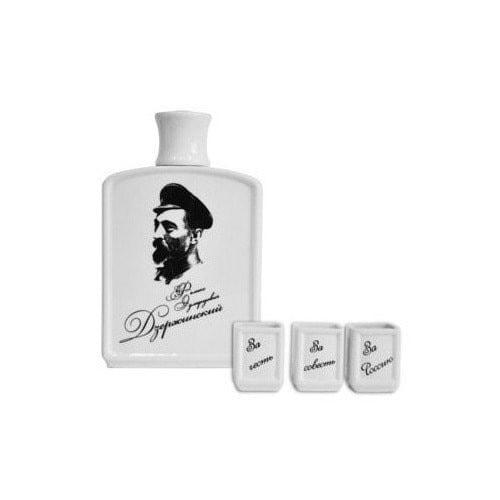 Подарочный набор с фарфоровым штофом. Краткий курс истории ВЧК-КГБ (фото, вид 1)
