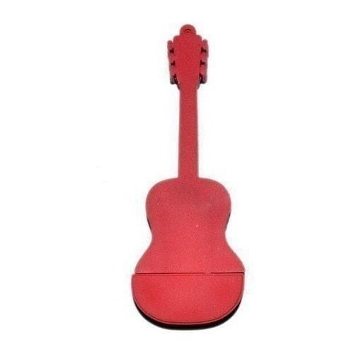 Подарочная флешка. Гитара (цвет красный) (фото, вид 2)